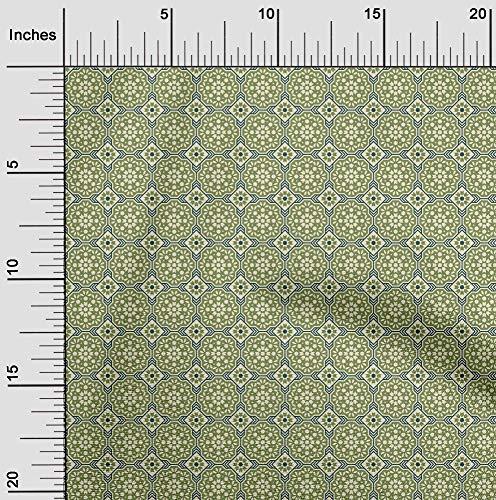 oneOone Jersey De Algodón Tela florales y azulejos Marroquí Cosiendo Tela De La Impresión De Material Por Metros 58 Pulgadas De Ancho