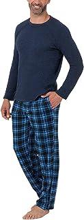 Men's Signature Sweater Fleece Raglan Sleep Sleep Top &...
