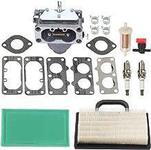 Harbot 791230 Carburetor for Briggs and Stratton 699709 499804 John Deere MIA10632 LA120 LA130 LA135 LA140 LA145 LA150 L111 L118 L120 Lawn Mower Tractor with 499486S 499486 273638S Air Filter