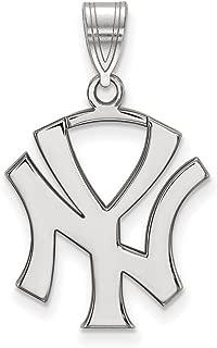 MLB New York Yankees Sterling Silver MLB LogoArt New York Yankees Large Pendant Size One Size