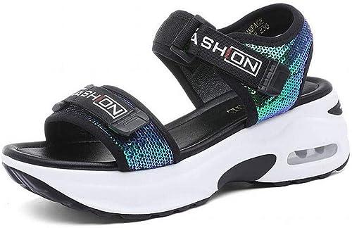 LTN Ltd Ltd - sandals Chaussures Décontractées à Paillettes, Bleu, 40  parfait