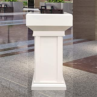 SHUSHI-Q Solid Wood Podium Speaking Welcome Reception Teacher Wedding Presidency Sworn Platform Ideal for Sermons and Pres...