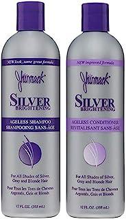 مجموعه ای از شامپو های بنفش Jhirmack Silver Brightening Ageless Purple 2 از همه برای سایه های موهای نقره ای ، خاکستری و موهای بلوند تهیه و برجسته های برجسته - 1 شامپو + 1 نرم کننده