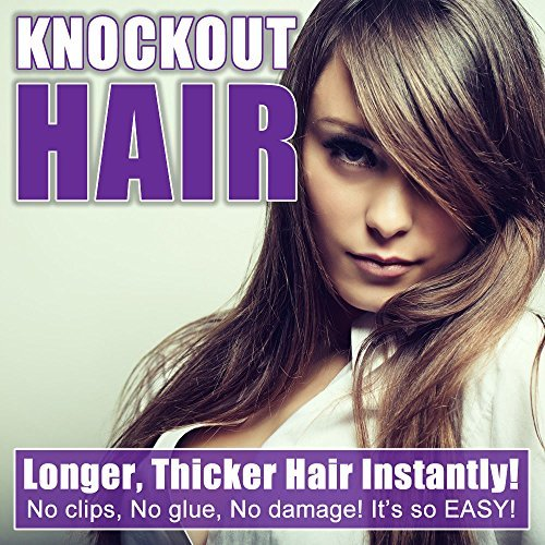 Fits like a Halo Hair Extensions 20-Inch, Jet Black by Knockout Hair