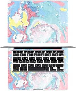 CHENGY Vinilo para portátil Piel De Cubierta Completa De Grano De Mármol De Color Mixto para Macbook Pro 2016 Skin Air Retina 11 12 13 15 Pulgadas HP Mac Mi HP Laptop Decal Sticker