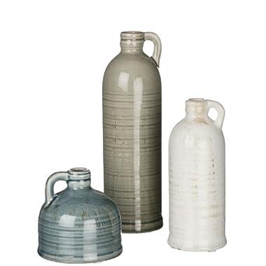 Sullivans Small Ceramic Jug Set, Farmhouse Home Decor, Set of 3 Vases (CM2431)