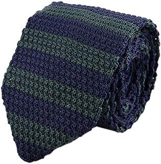non-brand Baoblaze Maglia Di Lana Cravatta Cravatta Tessuti Piani Degli Uomini blu Scuro