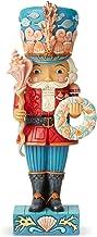 Enesco Jim Shore Heartwood Creek Coastal Christmas Nutcracker Figurine, 10.24 Inch, Multicolor