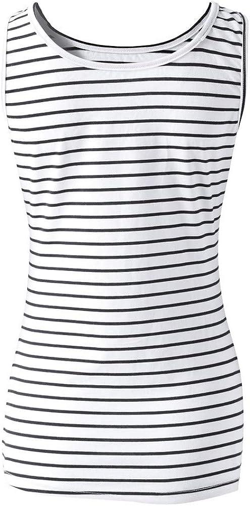 Women's Striped Knit Vest Top