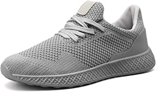 XUJW-Shoes, Athletic Shoes for Men Sports Shoes Lace Up Style Mesh Material Hollow Elastic Fly Weave Outdoor Casual Durable Comfortable Walking Shopping (Color : Gray, Size : 7.5 UK)