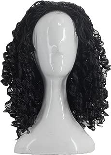 Angelaicos Unisex Wavy Halloween Costume Full Wig Long Dark Brown (Men's Wig)