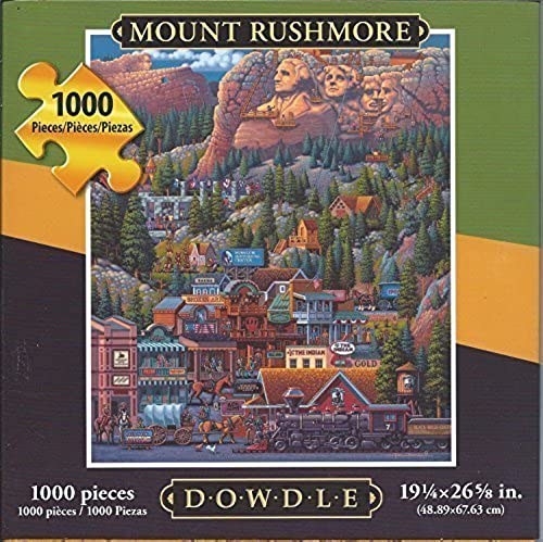 Dowdle Folk Art 1000 Piece Puzzle Mount Rushmore 19 1 4 x 26 5 8 Finished by Dowdle Folk Art