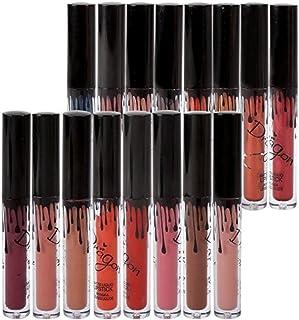 Richoose 16 Colores Set Líquido Maquillaje Líquido Maquillaje Lápiz Mate Lápiz labial Brillo Labial Super Larga duración (...