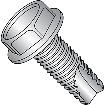 Plain Finish Hex Washer Head 3//8 Length Type 23 18-8 Stainless Steel Thread Cutting Screw #8-32 Thread Size Pack of 50