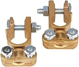 Marine Positive and Negative Pair Motorcycle Boat JOYHO 0 4 8 10 AWG Car Battery Terminals with 2 Clear Covers Shims for Car Truck Car Battery Terminal Connectors Kit