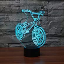 HIOJDWA Night Light 3D Led Bedside BMX Night Light Bicycle Shape USB Table Lamp 7 Color Change Bike Home Decor Bedroom Sle...