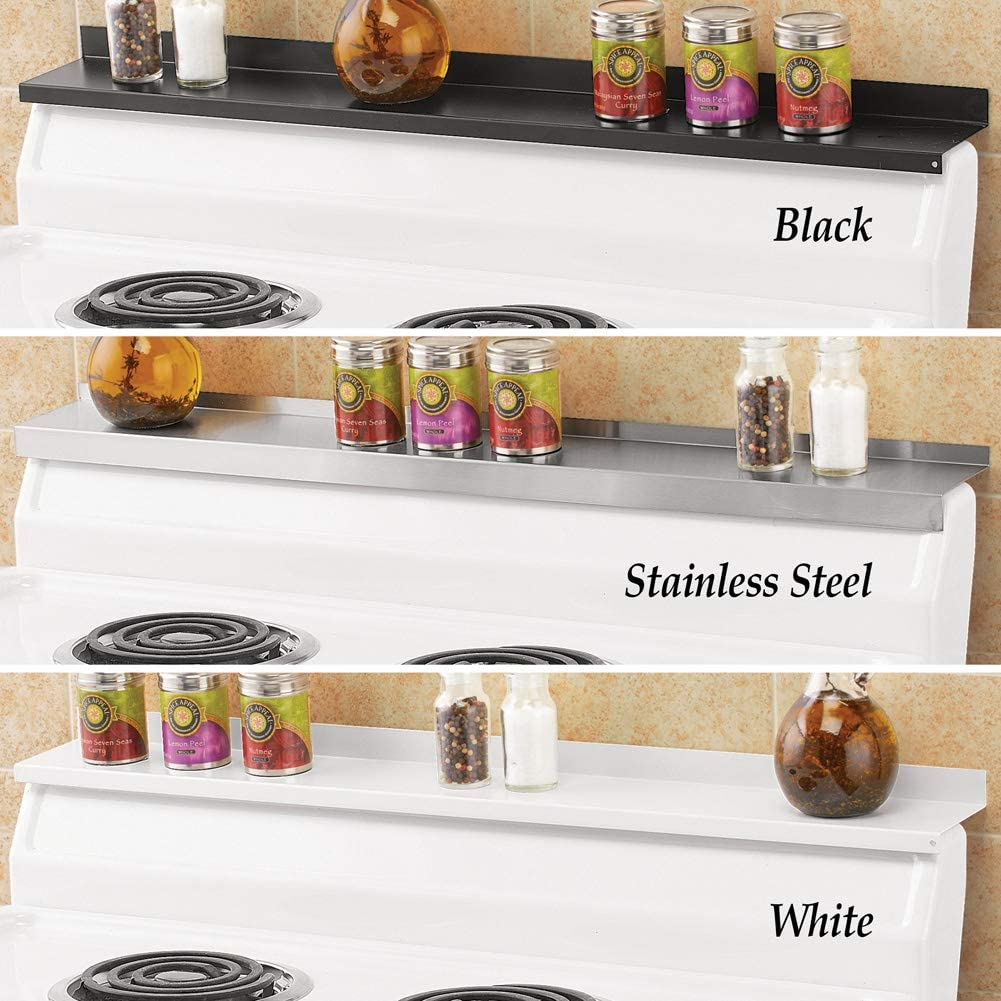 Home Gadgets Kitchen Organization Magnetic Shelf White Old Home Kitchen 30-Inch Kitchen Shelf Instant Stovetop Shelves Easy Installation Spice Rack