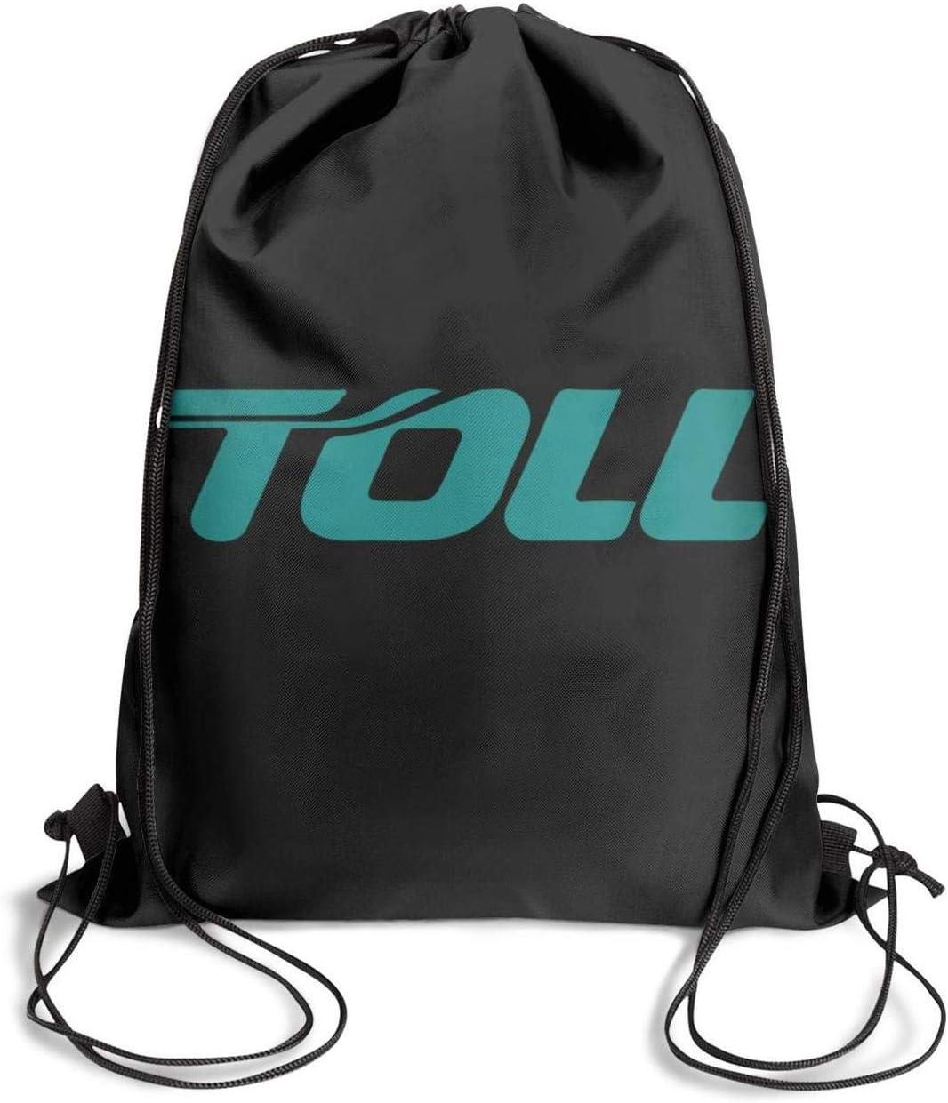 Drawstring Backpack Closing Pool Beach Toll-Group-Logo Drawstring Bags for Women /& Men