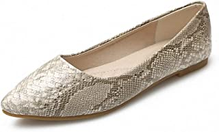 HappyEva Women's Ballet Flats Pointed Toe Comfort Slip On Flat Shoes Walking Dress Shoes
