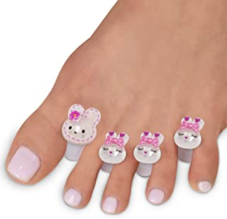 Toe Separators for Nail Polish Pedicure - 8 x Spacers, Stretchers, Spreaders, Polish Guards - Toe Spacers for Feet - (Rabb...