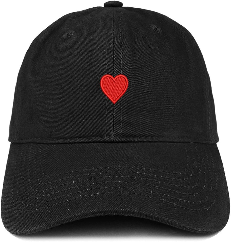 Emoji Heart Embroidered Cotton Adjustable Ball Cap Dad Hat