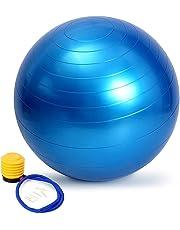 バランスボール moonwind 65cm ダイエット ヨガボール エクササイズボール トレーニング アンチバースト仕様 ポンプ付 プレゼント
