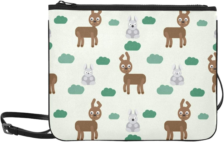 Tote Crossbody Bag Deer Rabbit Adjustable Shoulder Funny Animal Direct stock Baltimore Mall discount