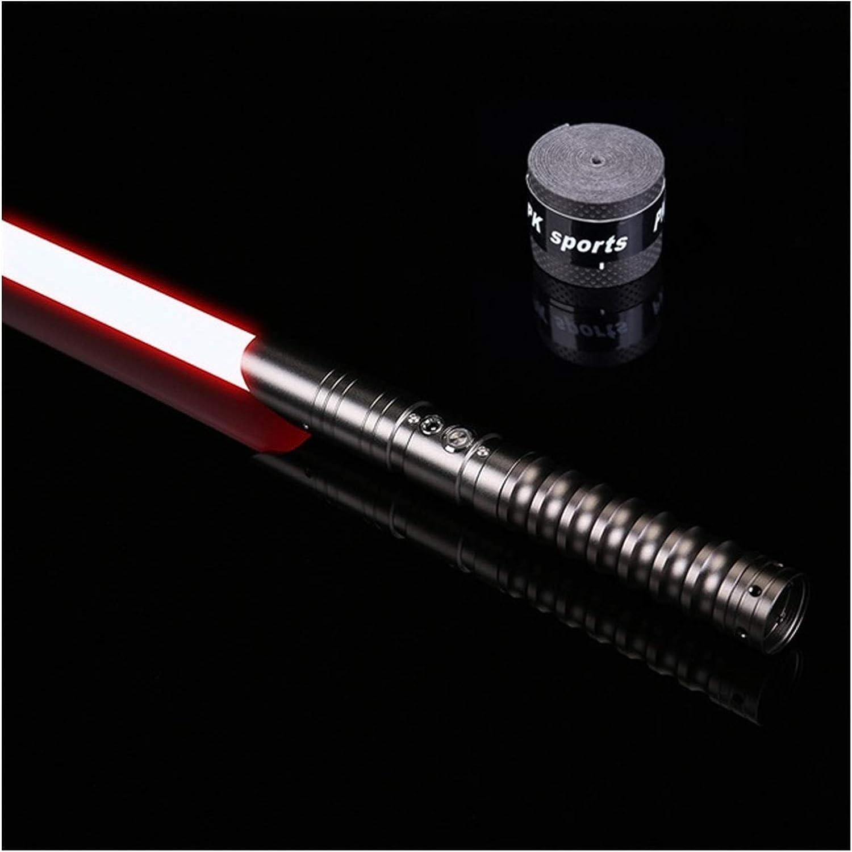 YOUPI 100% nuevo RGB L.E.D Lightsable, Force FX Heavy Dueling, sable de luz recargable, sonido fuerte de alta luz con FOC, Hilt, Blaster, regalos para niños (color: TS001 mango de pistola)