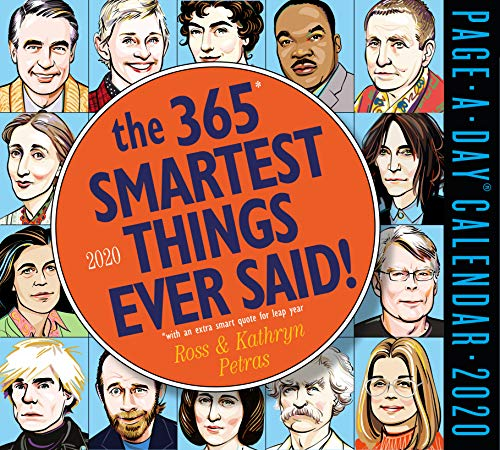 """Price comparison product image The 365 Smartest Things Ever Said Page-A-Day Calendar 2020 [5.5"""" x 6"""" Inches]"""