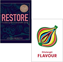 Restore By Gizzi Erskine & Ottolenghi FLAVOUR By Yotam Ottolenghi, Ixta Belfrage 2 Books Collection Set