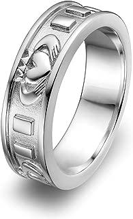 Sterling Silver ULS-6342 Ladies Wedding Claddagh Ring