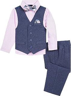 Nautica Boys' Vest, Shirt and Pant Set