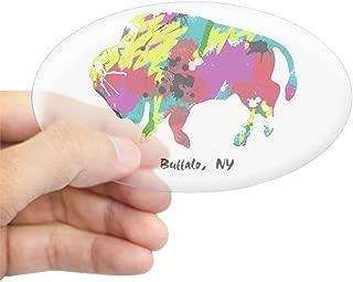 CafePress Artsy Buffalo Oval Sticker Oval Bumper Sticker, Euro Oval Car Decal