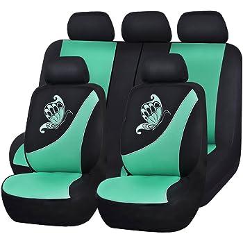 CAR PASS Universal Auto Schonbezug Komplettset Sitzbez/üge f/ür Auto Mit Butterfly
