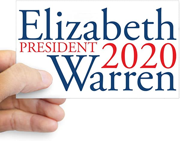 CafePress Elizabeth Warren 2020 Rectangle Bumper Sticker Car Decal