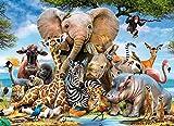 Mini Puzzles de 1000 Piezas en Miniatura DIYpara Adultos Mundo Animal de cartón Resistente Desafío de Ejercicio Cerebral Juego de Alta dificultad Regalo para Niño 38 * 26cm