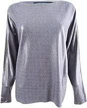 LAUREN RALPH LAUREN Womens Metallic Lightweight Knit Holiday Party Sweater
