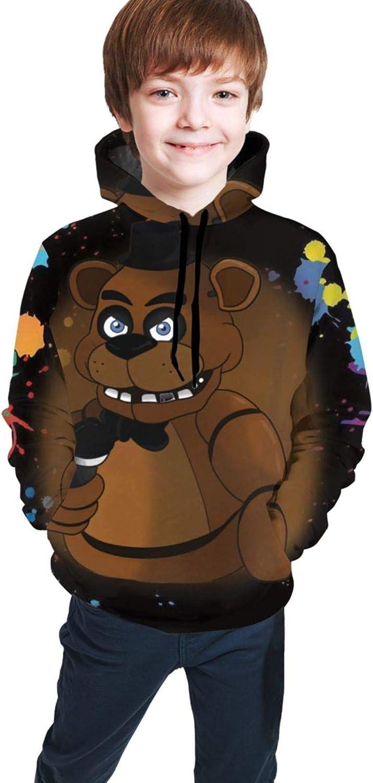 Five Nights at Freddy Youth Boys Girls 3D Print Pullover Hoodies Hooded Seatshirts Sweaters 14-16 Years Black