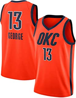 28064a46f DCE Hombres Jersey Camisetas Paul George # 13 Oklahoma City Thunder  Swingman Sewn Jersey Chaleco del