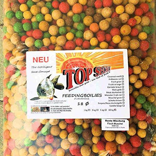 TOP SECRET Futterboilie 10Kg 16-20mm Fisch-Mix
