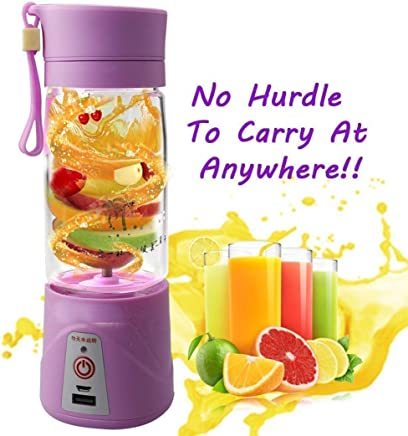Hk Villa Rechargeable Portable Electric Mini USB Juicer Bottle Blender for Making Juice, Shake, Smoothies , Travel Juicer For Fruits And Vegetables , Fruit Juicer For All Fruits , Juice Maker Machine , Juicer Hand Machine