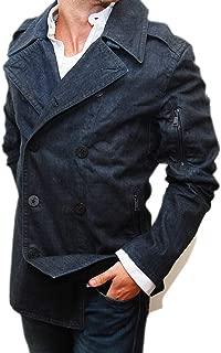 Polo Black Label Mens Blue Jean Peacoat Jacket Cotton Italy XL