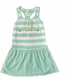 Sixth Birthday Outfit Girl, 6th Birthday Summer Tank Dress