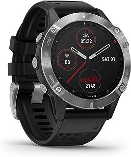 Garmin Fenix 6 GPS-horloge voor volwassenen, 47mm, 010-02158-00, Zilver/Zwart