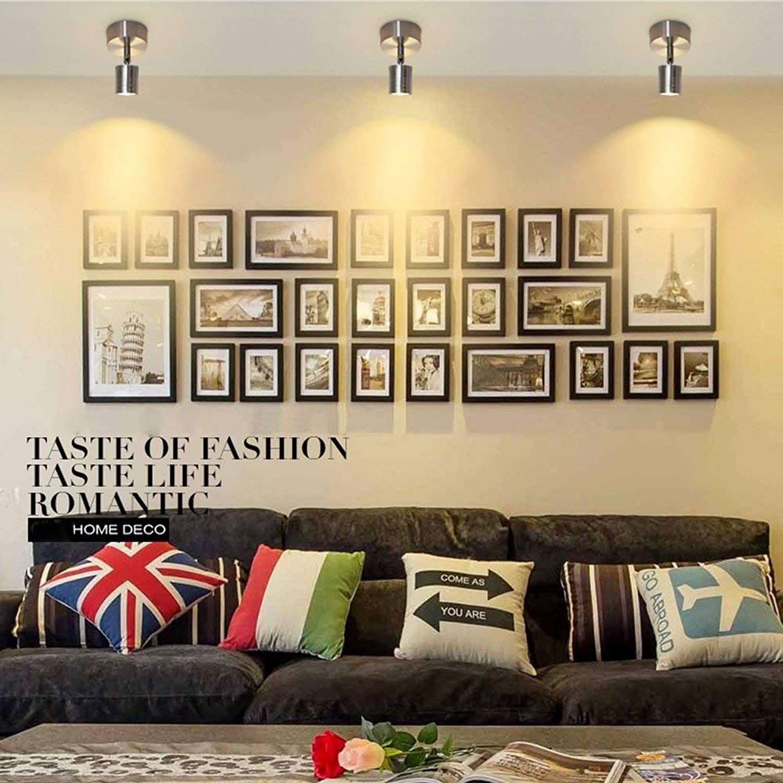 BOSSLV w Warm Weiß Light Led Deckenleuchte Deckenleuchte Deckenbeleuchtung Innen-Deckenleuchte Aluminium Spot Salon Esszimmer Küche Home Shop Flur Beleuchtung 7,5 cm
