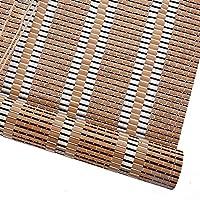 すだれ 東洋の家具の竹は喫茶店、窓のドアのための側面の引きが付いている80%の停電の反紫外線レトロなローラーの陰のためのブラインドを転がします (色 : Hooking, サイズ さいず : 125×220cm)
