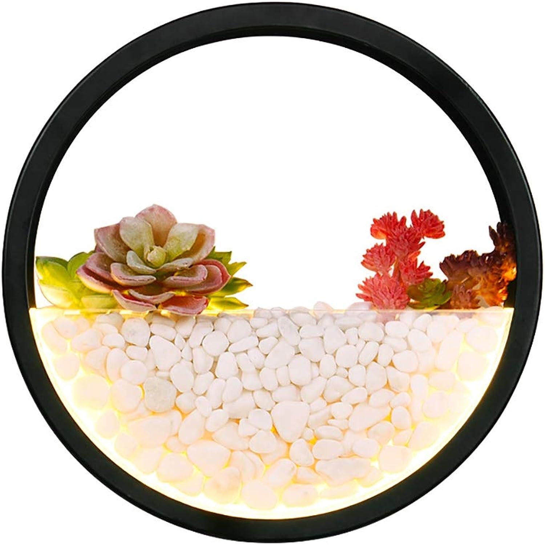 YMYJZ LED Wandleuchte, Wandbehanglampenschlafzimmerbettwohnzimmer der kreativen Pflanze der Persnlichkeit Moderne Wanddekorationhintergrund LED-Wandlampe,Weißlight
