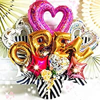 開店祝い♪カラーが選べるフラワーバルーン OPEN バルーンギフト 卓上タイプ カラーバリエーション【mzballoon】【エムズバルーン】 (ピンク)