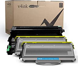 V4INK Compatible Toner Cartridge and Drum Unit Set Replacement for Brother TN360 DR360 (1 Drum + 2 Toner),for use in Brother HL-2140 HL-2170W DCP-7030 DCP-7040 MFC-7340 MFC-7345N MFC-7440N MFC-7840W