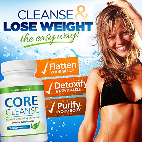 Colon Cleansing Supplement for a Flat Belly   Core Cleanse   Natural Colon Cleanser for Detox & Weight Loss - Eliminate Gas & Bloating and Aid Digestion - Lose Weight Naturally & Fast - Effective at Home Cleansing Pill for Digestive Support
